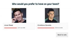 Ronaldo or Messi