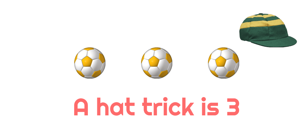 3 goals is a hat trick